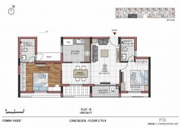 1090 sqft, 1 bhk Apartment in Fomra Hues Porur, Chennai at Rs. 54.4891 Lacs