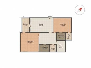 1000 sqft, 2 bhk Apartment in Adlakha United India Apartments Mayur Vihar, Delhi at Rs. 1.2500 Cr