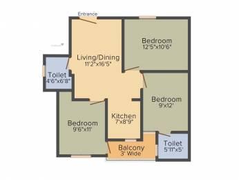 810 sqft, 3 bhk Apartment in Builder Project Burari, Delhi at Rs. 45.0000 Lacs