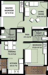 841 sqft, 2 bhk Apartment in Builder Project Bolarum, Hyderabad at Rs. 42.5000 Lacs