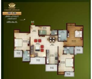 1075 sqft, 2 bhk BuilderFloor in Gaursons and Saviour Builders Gaur City 2 12th Avenue Sector 16C Noida Extension, Greater Noida at Rs. 39.0000 Lacs