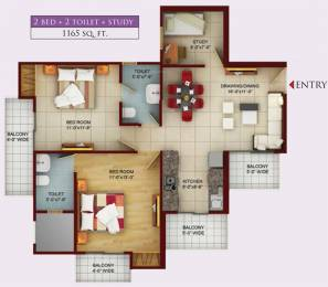 1165 sqft, 2 bhk Apartment in Samridhi Luxuriya Avenue Sector 150, Noida at Rs. 50.5000 Lacs