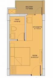 360 sqft, 1 bhk Apartment in Sushma Crescent Dhakoli, Zirakpur at Rs. 13.9000 Lacs