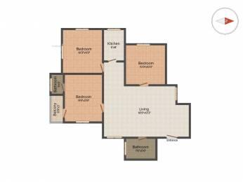 1350 sqft, 3 bhk Apartment in Builder Project Behala, Kolkata at Rs. 1.1250 Cr