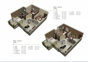 899 sqft, 2 bhk Apartment in Builder Project Hoskote, Bangalore at Rs. 31.5000 Lacs