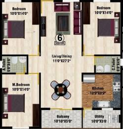 2781 sqft, 3 bhk Apartment in DS DSMAX SHRINE Hebbal, Bangalore at Rs. 88.9900 Lacs