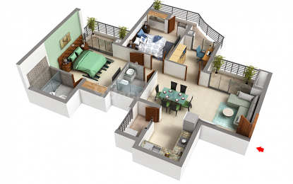 1310 sqft, 2 bhk Apartment in Urbtech Hilston Sector 79, Noida at Rs. 58.9500 Lacs