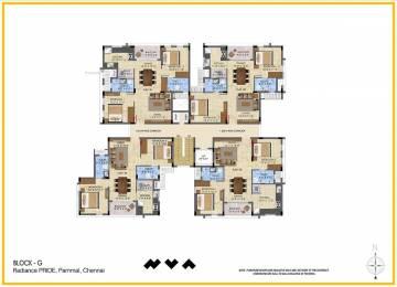 1400 sqft, 3 bhk Apartment in Builder Project Pallavaram, Chennai at Rs. 72.9000 Lacs