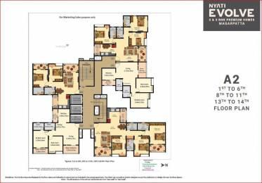 1675 sqft, 3 bhk Apartment in Nyati Evolve I Mundhwa, Pune at Rs. 1.3781 Cr
