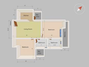 1150 sqft, 2 bhk Apartment in Builder Project Vasundhara, Ghaziabad at Rs. 55.5000 Lacs