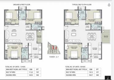 1271 sqft, 3 bhk Apartment in Builder Project Shaikpet, Hyderabad at Rs. 1.0000 Cr