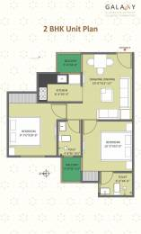 742 sqft, 2 bhk Apartment in One Realty Galaxy Ajmer Road, Jaipur at Rs. 25.0000 Lacs