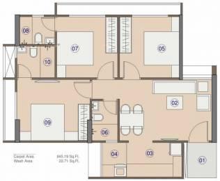1250 sqft, 3 bhk Apartment in Saanvi Celesta Bopal, Ahmedabad at Rs. 46.5000 Lacs