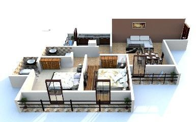 550 sqft, 1 bhk Apartment in Ecohomes Eco Winds Bhandup West, Mumbai at Rs. 86.0000 Lacs