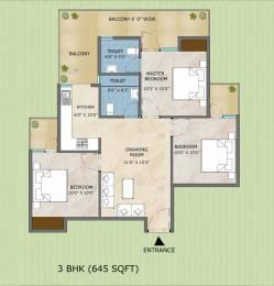 1100 sqft, 3 bhk Apartment in Adore Samriddhi Sector 89, Faridabad at Rs. 26.3300 Lacs
