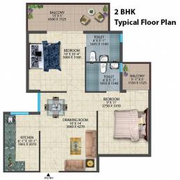 1100 sqft, 3 bhk Apartment in Conscient Habitat Residences Sector 78, Faridabad at Rs. 25.8200 Lacs
