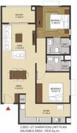 1190 sqft, 2 bhk Apartment in Brigade Xanadu Mogappair, Chennai at Rs. 72.4710 Lacs
