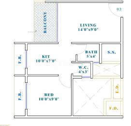 700 sqft, 1 bhk Apartment in Tulip Empire Ulwe, Mumbai at Rs. 50.0000 Lacs