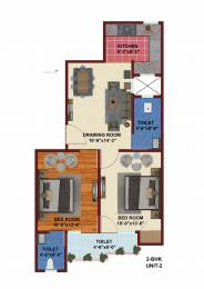 621 sqft, 1 bhk Apartment in Builder Project Sector 70, Noida at Rs. 17.5000 Lacs