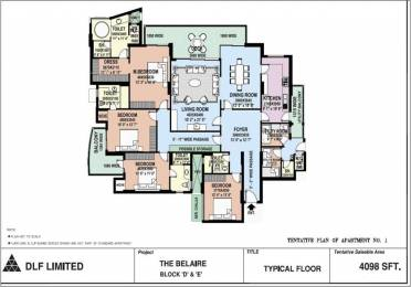 4000 sqft, 4 bhk Apartment in DLF The Belaire Sector 54, Gurgaon at Rs. 1.3500 Lacs