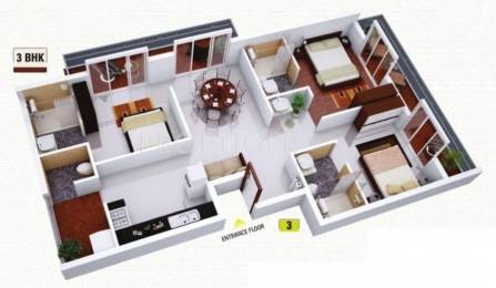 1245 sqft, 3 bhk Apartment in Venkatesh Oxy Bonita Phase II Lohegaon, Pune at Rs. 64.0000 Lacs