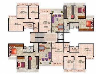 838 sqft, 2 bhk Apartment in Wadhwa Daisy Gardens Ambernath West, Mumbai at Rs. 35.2500 Lacs