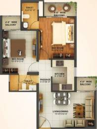 900 sqft, 2 bhk Apartment in Mahagun Montage Crossing Republik, Ghaziabad at Rs. 30.9000 Lacs