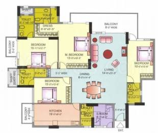 2810 sqft, 4 bhk Apartment in DLF The Icon Sector 43, Gurgaon at Rs. 3.6000 Cr