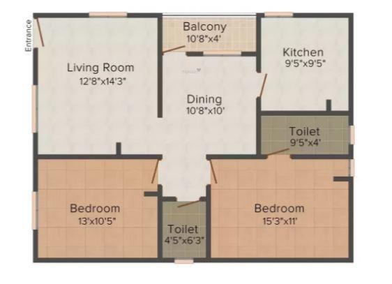 Kartik Homes 4 (2BHK+2T (700 sq ft) Apartment 700 sq ft)