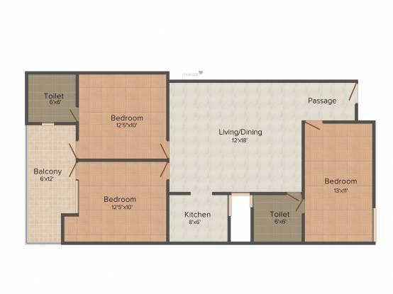 Kamra Homes (3BHK+3T (1,350 sq ft) Apartment 1350 sq ft)