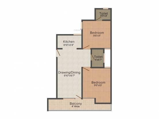 Sanskar Residency (2BHK+2T (750 sq ft) Apartment 750 sq ft)