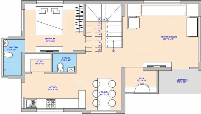 Uma Fortune Kimberly (4BHK+4T (2,055.80 sq ft) Villa 2055.8 sq ft)