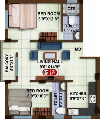 Avittam Sundarar (2BHK+2T (670 sq ft) Apartment 670 sq ft)