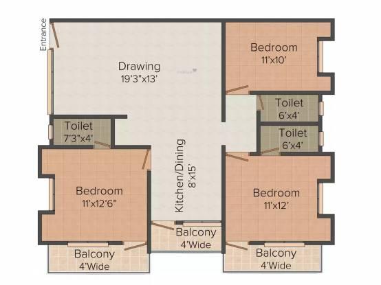 Aadhar WW 72 Malibu Town (3BHK+3T (2,475 sq ft) Apartment 2475 sq ft)