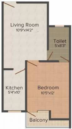 Buildtech Anantham Homes 2 (1BHK+1T (610 sq ft) Apartment 610 sq ft)