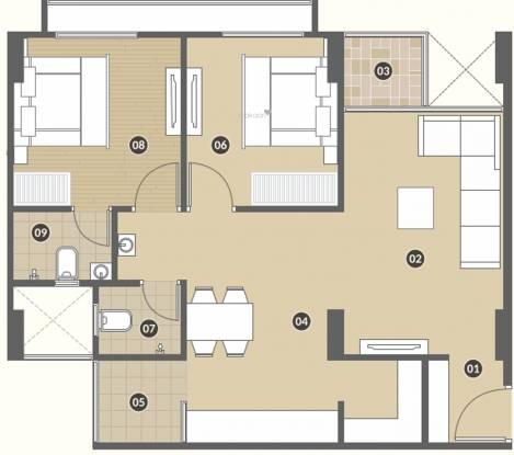 Pramukh Aranya II (2BHK+2T (585.56 sq ft) Apartment 585.56 sq ft)