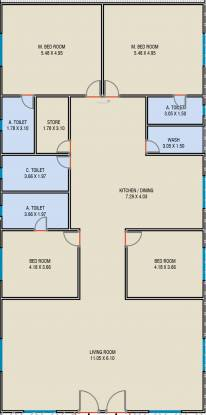 Anay Milestone Indigo (4BHK+4T (2,759.01 sq ft) Apartment 2759.01 sq ft)
