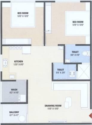 Balaji Sahitya Hills And Icon (2BHK+2T (537.12 sq ft) Apartment 537.12 sq ft)