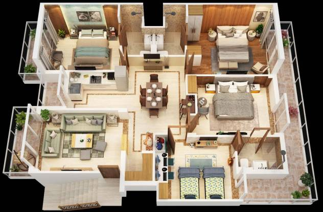 Avenue The Paradise (4BHK+4T (1,106.53 sq ft) Apartment 1106.53 sq ft)