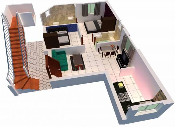 MP Villa (2BHK+2T (828 sq ft) Villa 828 sq ft)