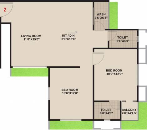 Dobaria Associates Suvarn Palace (2BHK+2T (637.87 sq ft) Apartment 637.87 sq ft)