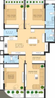 Om Aryaman Urbanville 1 (3BHK+3T (1,248.08 sq ft) Apartment 1248.08 sq ft)