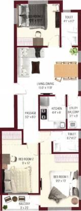Danish Dera Co Operative Housing Society (3BHK+2T (1,268 sq ft) Apartment 1268 sq ft)