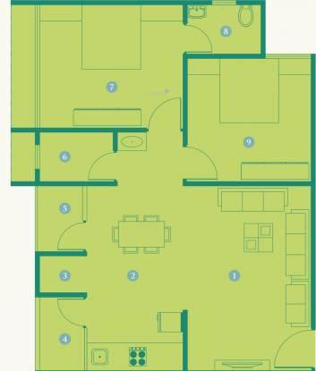 Sai Exotica (2BHK+2T (596.75 sq ft) Apartment 596.75 sq ft)