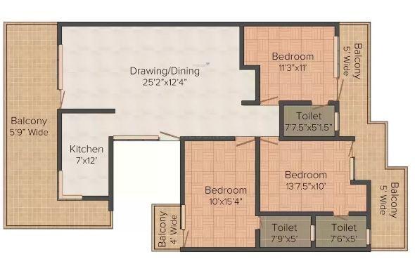 Shri Balaji Balaji Builder Floor (3BHK+3T (1,500 sq ft) Apartment 1500 sq ft)