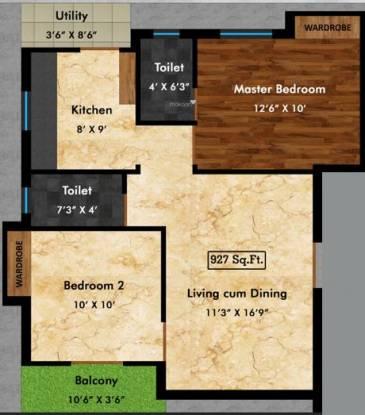 VIP Castle Anugraha Gated Community Apartments (2BHK+2T (927 sq ft) Apartment 927 sq ft)