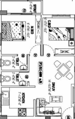 Viva Vester (2BHK+2T (600 sq ft) Apartment 600 sq ft)