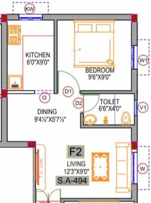 Rishi Sri Archana Flats (1BHK+1T (494 sq ft) Apartment 494 sq ft)
