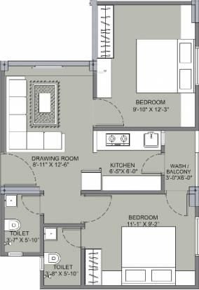Om Shanti Gold Plus 2 (2BHK+2T (453 sq ft) Apartment 453 sq ft)