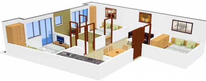Arora Heights Homes 3 (3BHK+3T (1,890 sq ft) Apartment 1890 sq ft)